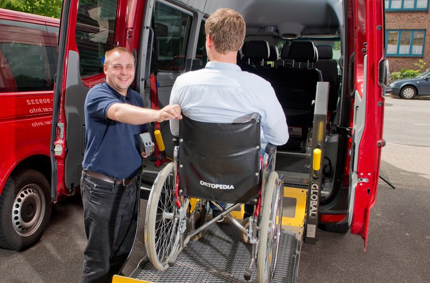Fahrdienst für Rollstuhlfahrer